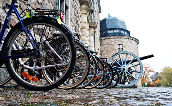 Эребру. Велосипеды. Замок
