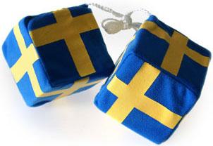 Сувенир - шведский флаг - кубики