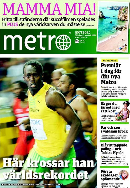 бесплатная газета Метро