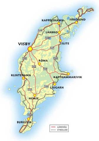 карта Готланда Швеция
