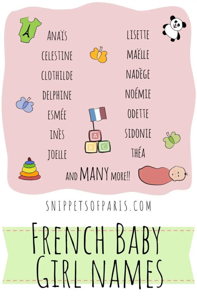 инфографика: французские имена для девочек