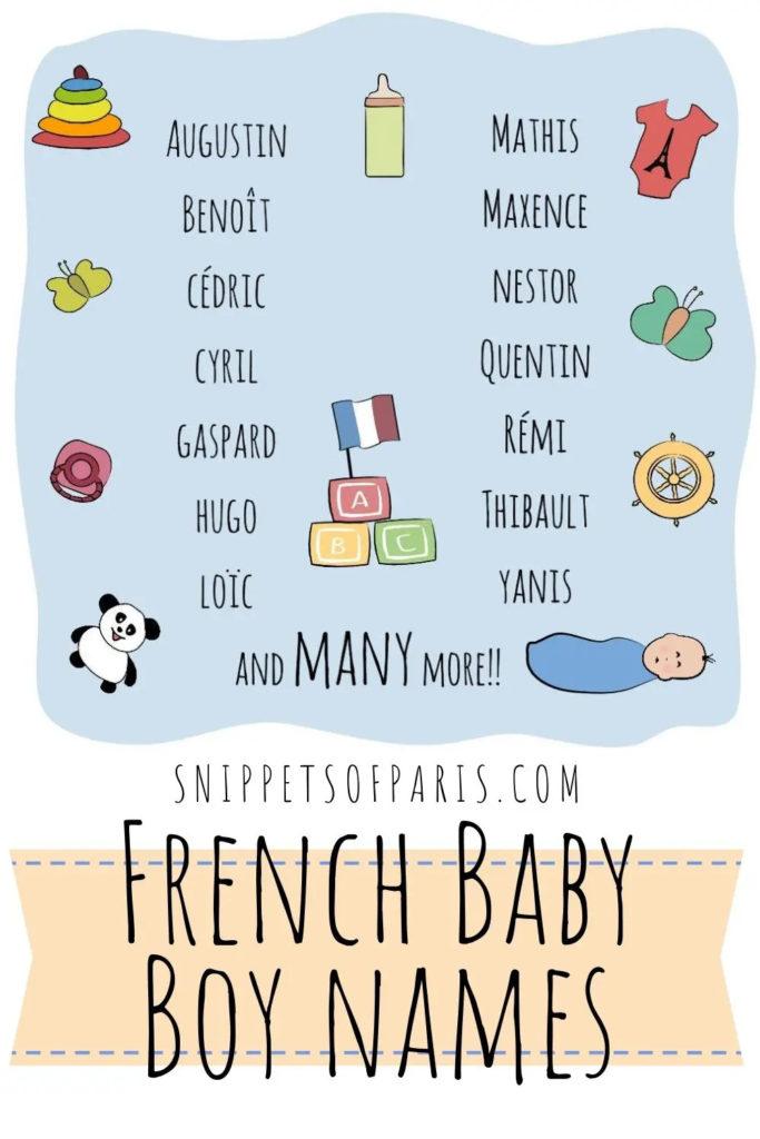 инфографика: французские имена для мальчиков