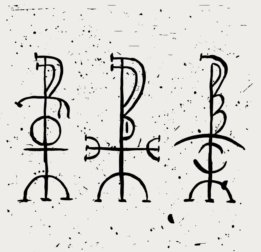 скандинавские татуировки эскиз