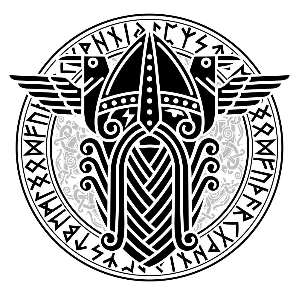 скандинавская татуировка эскиз