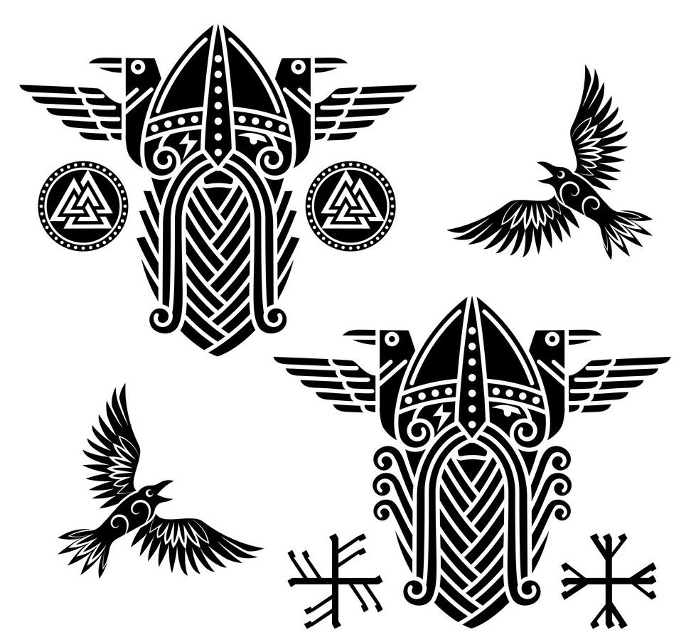 скандинавские узоры тату эскизы