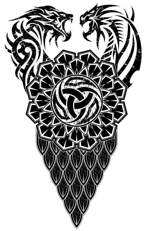 скандинавская татуировка эскиз уроборос