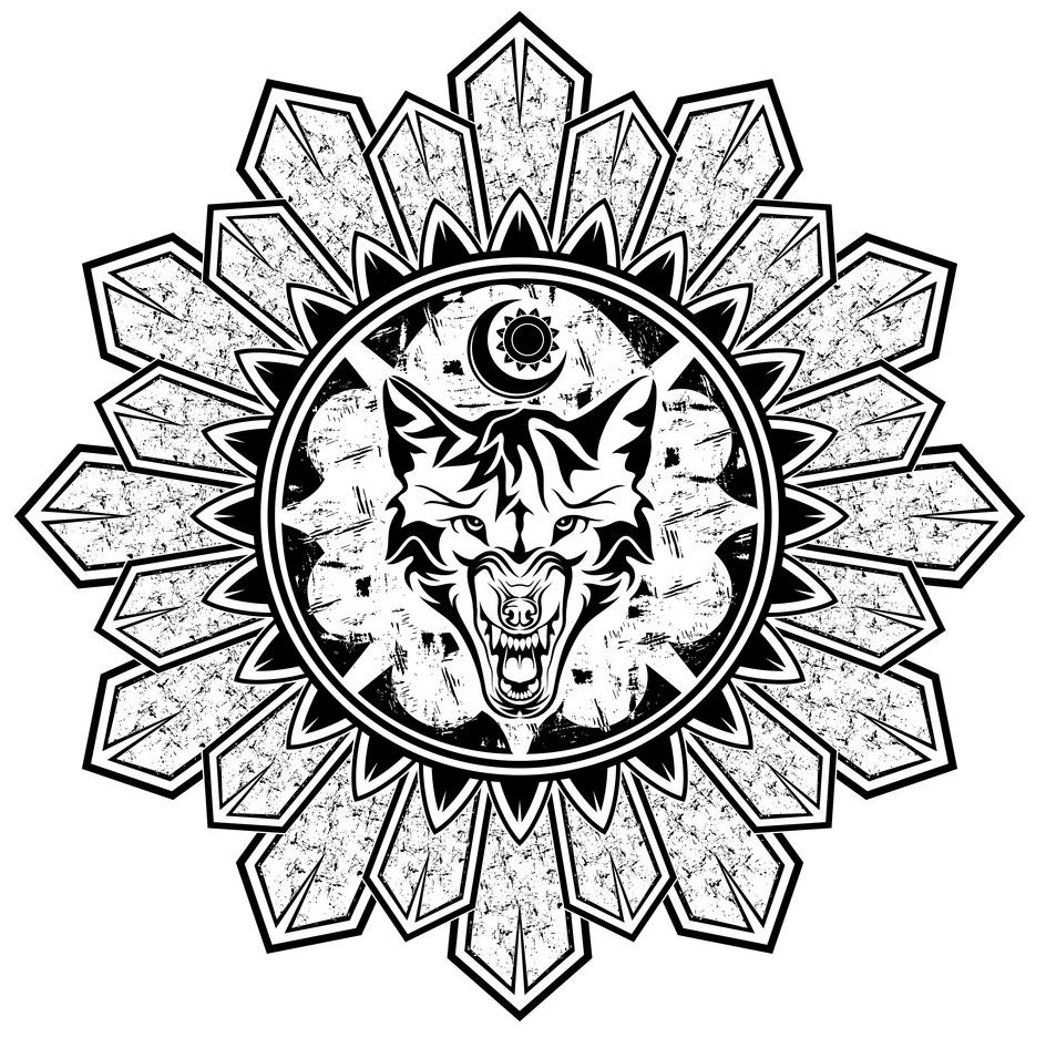 скандинавские тату эскиз северные волки