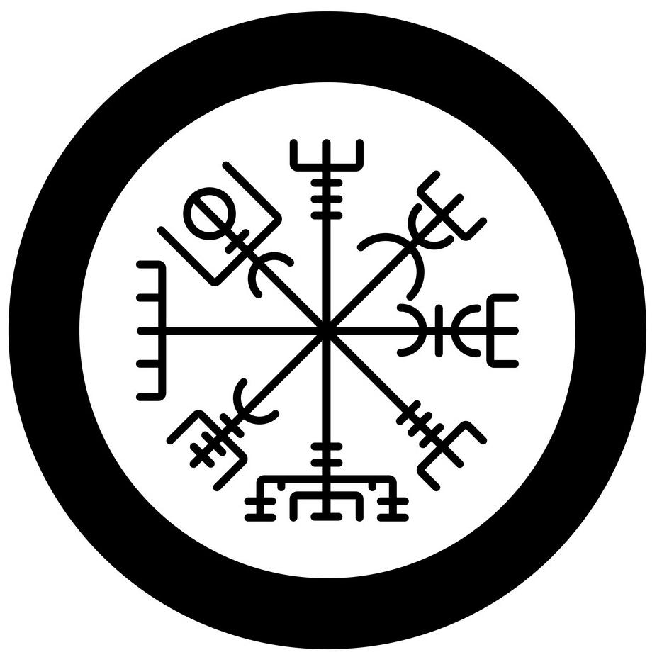 скандинавский компас вегвизир тату эскиз