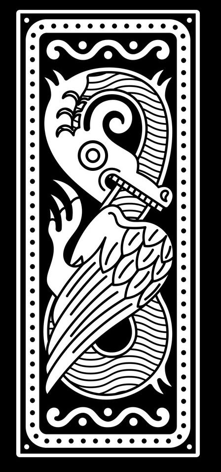 скандинавские тату дракон эскиз
