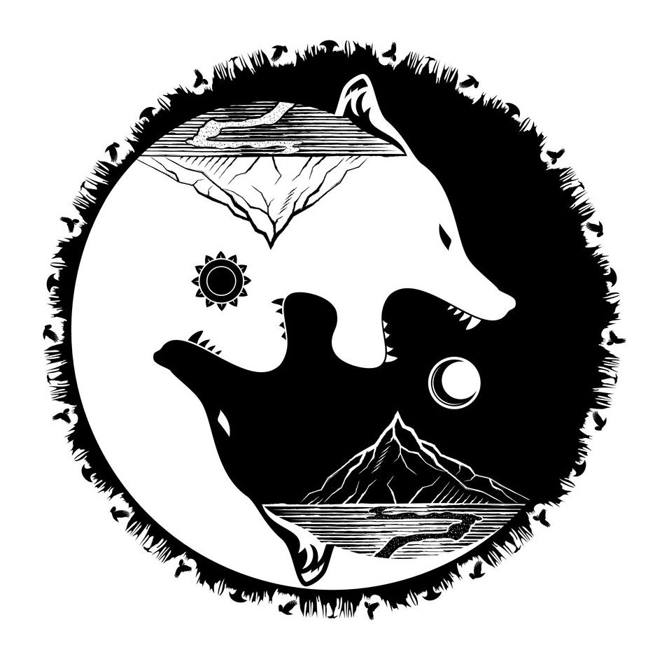 скандинавские тату волки эскиз